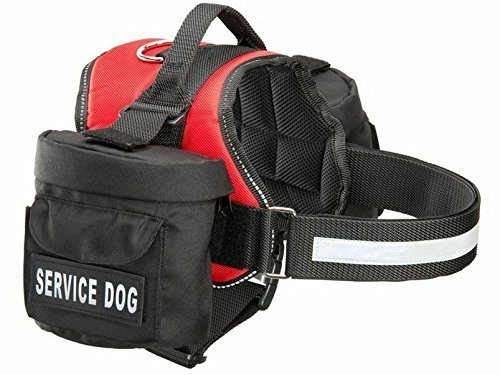 Doggie Stylz Service Dog Harness with Removable Saddle Bag Backpack Carrier Traveling Carrying Bag. 2 Removable Patches. Please Measure Dog Before Ordering. Made