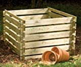 Wooden Garden Composter Waste Compost Bin Garden Outdoor Waste - Large 893 Litres