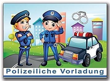 Schön Einladungskarten Polizei Kindergeburtstag Jungen Mädchen Jungs Einladung    10 Stück Kinder Einladung Geburtstag Polizeiauto