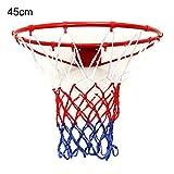 ZUINIUBI Wall Mounted Hanging Basketball Goal Hoop Rim Metal Netting 45cm