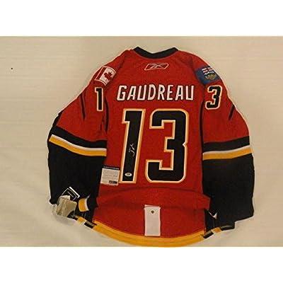 newest 3c4b6 0d00d Autographed Johnny Gaudreau Jersey - Reebok Edge Calgary ...
