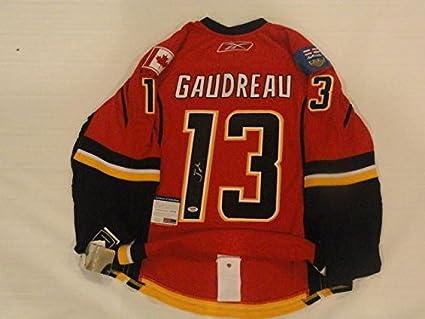 newest 5a854 142f3 Autographed Johnny Gaudreau Jersey - Reebok Edge Calgary ...
