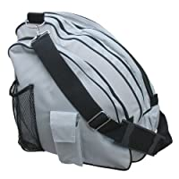 A&R Deluxe Ice Figure Skate Carry Bag Roller Blade In Line Bag Silver-6 SKBAGSL