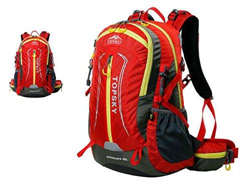 Bergsteiger-Rucksack Umhängetasche Männer und Frauen Umhängetasche Tasche im Freien Rucksack Camping Wandern Radfahren ( farbe : Rot , größe : 40L )