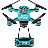 Skin for DJI Spark Mini Drone Combo - Slow Sloth  MightySkins Protective, Durable, and Unique Vinyl Decal wrap cover   Easy To Apply, Remove, and Change Styles   Made in the USA