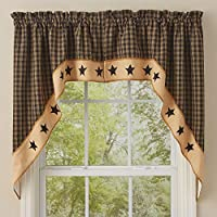 Park Designs Sturbridge Star Lined Swag, 72 x 36