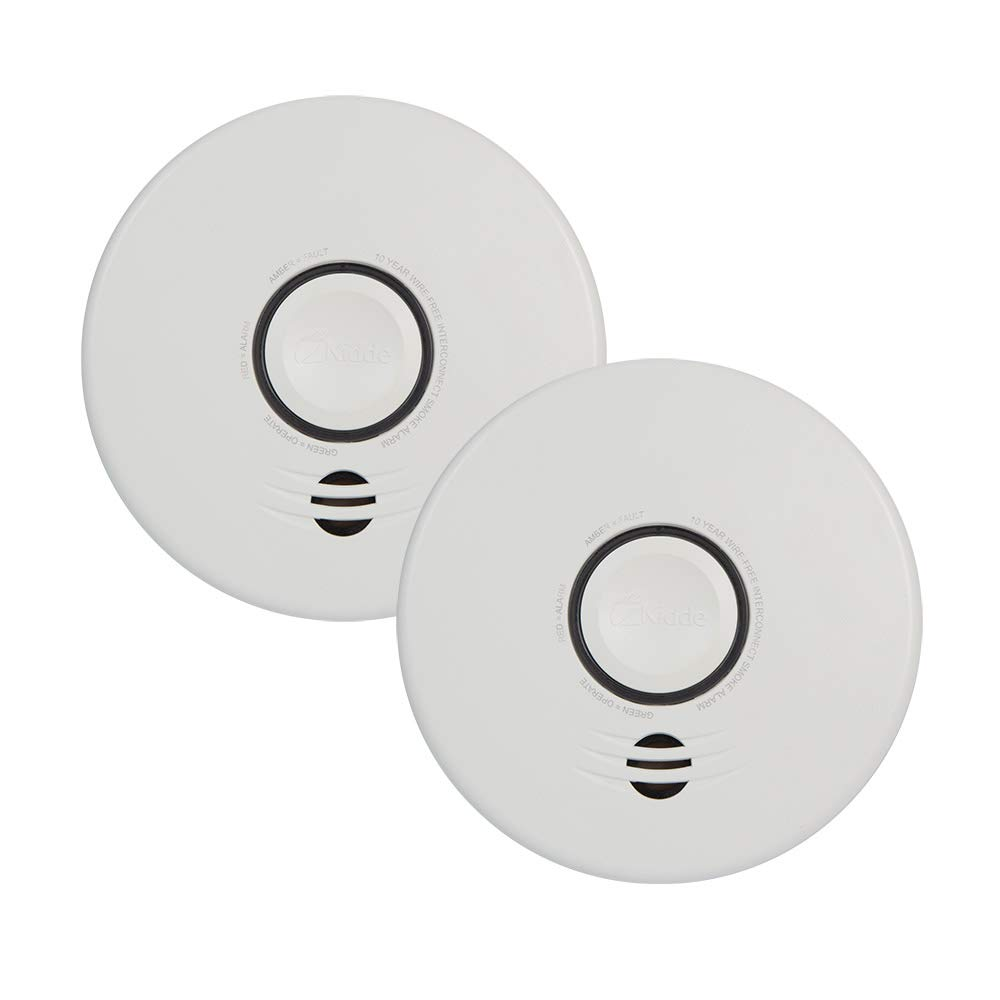 Kidde P4010DCS-W Wire-Free Interconnect Lithium Battery Powered 2-Pack smoke alarm, white