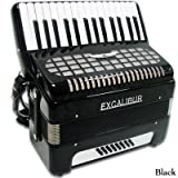 Excalibur Geneva 24 Bass Piano Accordion - Black