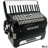 Excalibur Geneva 24 Bass Piano Accordion - Black