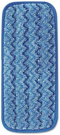 13.75 x 5.5 in. Rubbermaid Commercial Products Q820BLU Microfiber Wall /& Stair Wet Mopping Pad44; Blue