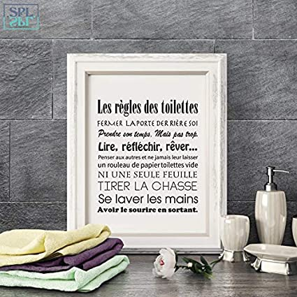 Artwork A4 21x30cm No Frame Color No Frame1 Inch Size Ochoos Splspl French Toilet Rules Canvas Art Print Poster Home Bathroom Canvas Painting Poster France Wall Art Decor Without Frame