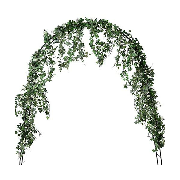 5 Pack Artificial Rose Flower Vine Garland Greenery Ivy Leaves Plants Hanging Baskets Silk Fake Flowers String Home Outdoor Wedding Arch Garden Wall Party Floral Decor