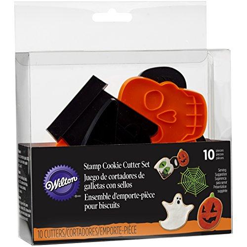 Wilton Halloween Shapes Cookie Cutter Set, 10-Piece -
