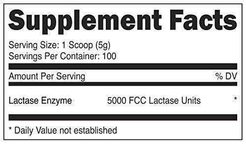 Nutricost Lactase Powder 500 Grams - Pure, Non-GMO, Gluten Free, High Quality Lactase Powder by Nutricost (Image #1)