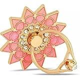 Universal Phone Ring Bracket holder ,UCLL Diamond Sunflower Finger Grip Stand Holder Ring Car Mount Phone Ring Grip Smartphone Ring stent Tablet Gold