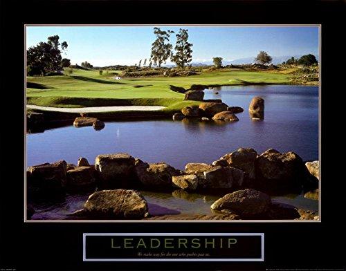 Golf Motivational Picture - Leadership Golf Motivational Poster Inspirational Art Print