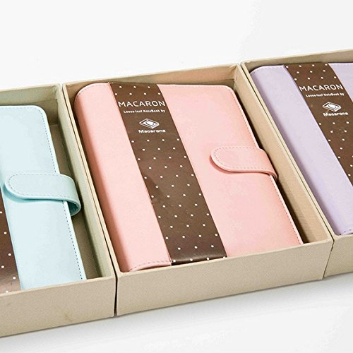 Price comparison product image moahhally Macaron Color Leather Spiral Notebook Office Personal Diary / week Planner / agenda Organizer Cute Ring Stationery Binder A5 A6 Notebook Cover