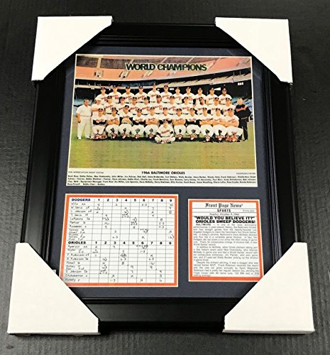 - Baltimore Orioles 1966 World Series Champs Team Photo 11x14 Framed & Matted 8X10 PHOTO