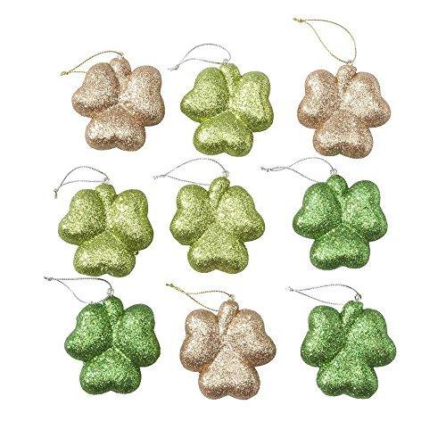 [St. Patrick's Day Ornaments, Set of 9] (St Patricks Day Shamrocks)