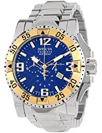 Men's 10894 Excursion Reserve Chronograph Blue Textured Dial Stainless Steel Watch