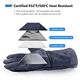 932°F Heat Resistant Leather Forge Welding Gloves