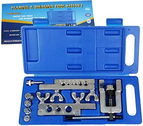 Prima Causa HVAC Flaring and Swaging Tool Kit Flares Soft Refrigeration Copper Tubing