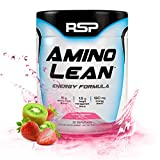 RSP AminoLean - All-in-One Pre Workout, Amino Energy, Weight Management Supplement with BCAA, Complete Preworkout Energy & Natural Weight Management for Men & Women, Strawberry Kiwi (30 Serv)