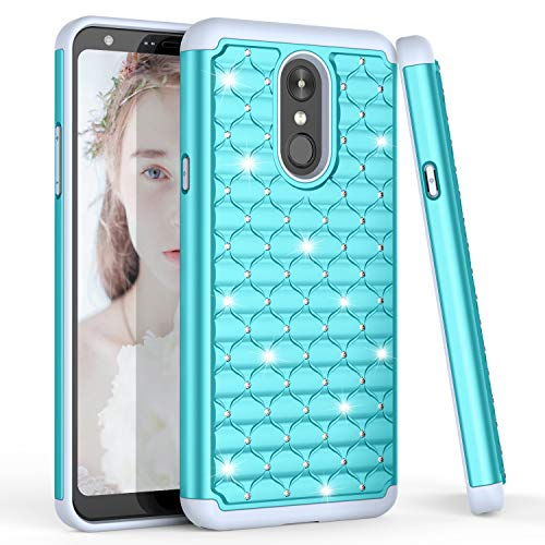 TILL for LG Stylo 4 / LG Q Stylus Case, LG Stylo4 Plus Cover, TILL(TM) Studded Rhinestone Crystal Bling Diamond Sparkly Luxury Shock Absorbing Hybrid Defender Rugged Slim Glitter Case -