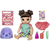 "Baby Alive Potty Dance Baby: Talking Baby Doll with Brown Hair, Potty, Rewards Chart, Undies & More, Doll That ""Pees"" On Her Potty, For Girls & Boys 3 Years Old & Up"