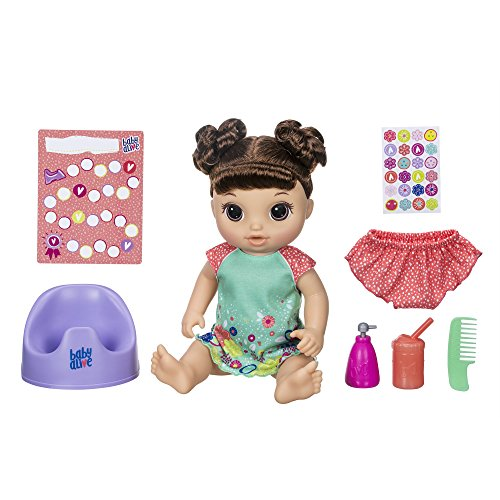 Baby Alive Potty Dance Baby: Talking Baby Doll with Brown Hair, Potty, Rewards Chart, Undies & More, Doll That