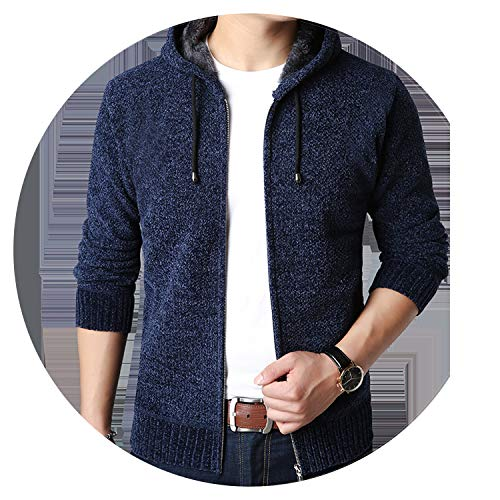 - Men Jacket Sweater Warm Cashmere Wool Zipper Cardigan Coat Casual Male Clothes,6602pm,XXXL