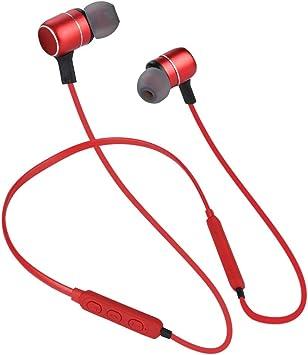 Auriculares Bluetooth para el cuello, nuevo C9X Smart AI Control de voz Auriculares Bluetooth magnéticos Auriculares con banda para el cuello deportivo, Auriculares inteligentes con Bluetooth(rojo): Amazon.es: Electrónica