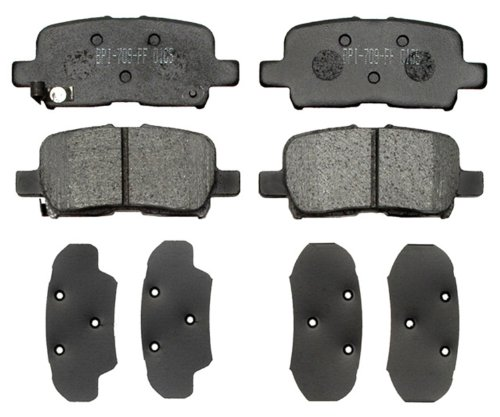 ACDelco 17D865 Professional Durastop Organic Rear Disc Brake Pad Set