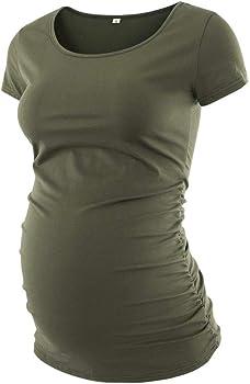 Motherhood Maternity Lightweight Side Ruched Maternity T-Shirt White XL