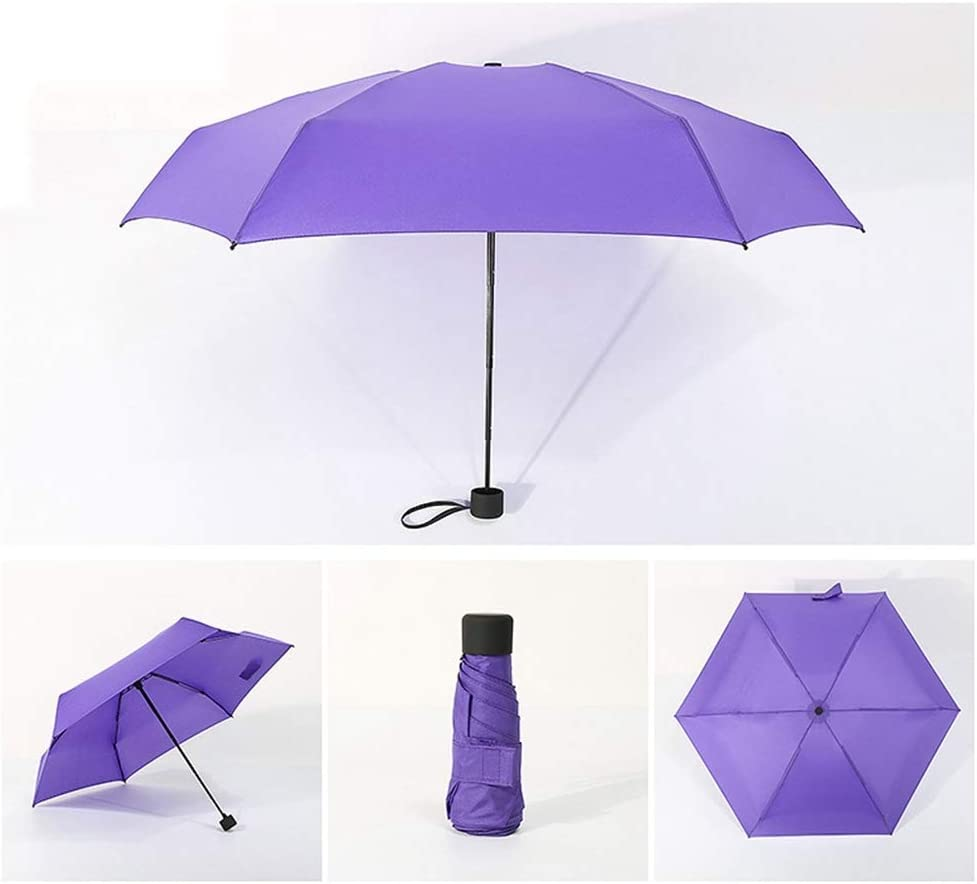 ZhiGe Foldable Umbrella,Small Fashion Folding Umbrella Rain Women Gift Men Mini Pocket Parasol Girls Anti-UV Waterproof Portable Travel Umbrella