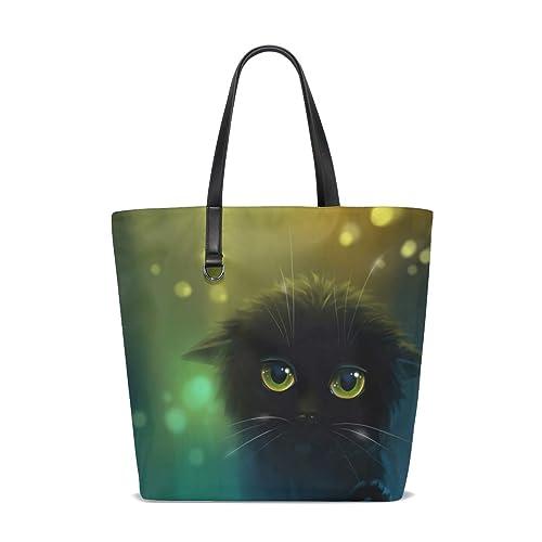Bennigiry tote-001 - Bolso al hombro para mujer gato negro Talla única: Amazon.es: Zapatos y complementos
