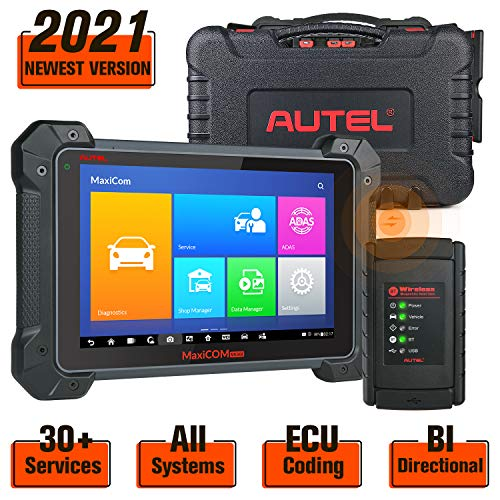 Autel MaxiCOM MK908 Diagnostic Tool with OE-Level Diagnosis, 30+ Services, ECU Coding, Bi-Directional Control, Fuel Injector/Fuel sync, Active Test, Oil Reset, EPB, 1 Year Free Software Update