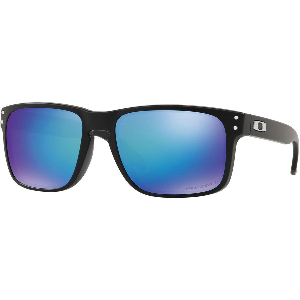 bf00cb847eb2 Oakley Men's Holbrook 9102F0 Sunglasses, Matte  Black/Prizmsapphirepolarized, 55: Amazon.co.uk: Clothing