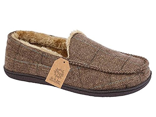Mens New Hampshire Faux Suede Fur Lined Moccasin Slippers Shoes Size 7-12...