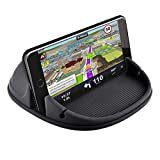 Besiva Car Phone Holder, Car Phone Mount Silicone Car Pad Mat for Various Dashboards, Anti-Slip Desk Phone Stand Compatible with iPhone, Samsung, Android Smartphones, GPS Devices and More, AA3