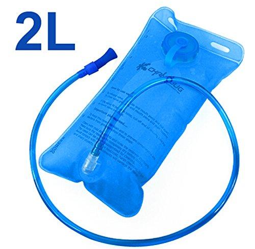 Edealing 1PCS 2L Trinksystem Wasser-Beutel-Beutel-Rucksack-Blase Wandern Klettern Überleben