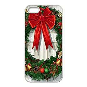 Christmas Wreath iPhone 5 5s Cell Phone Case White Pretty Present zhm004_5008185