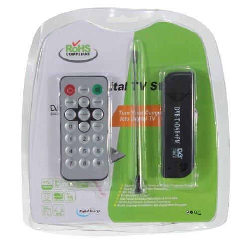 USB2.0 Digital DVB-T HDTV TV Tuner Recorder Receiver Stick RTL-SDR+DAB+FM R820T by MECO