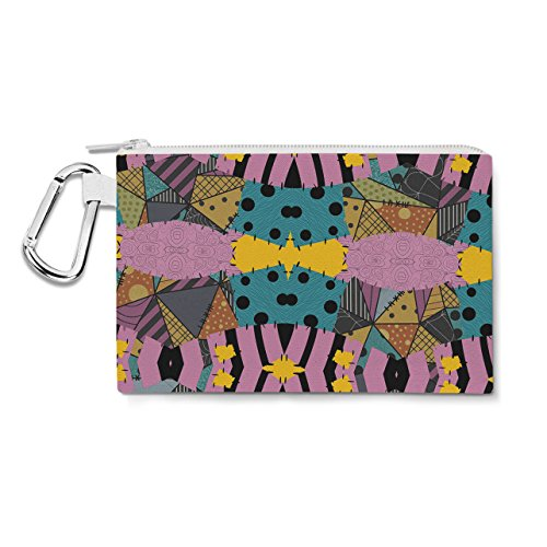 Ragdoll Patchwork Sally Canvas Zip Pouch - Small Canvas Pouch 7x5 inch - Multi Purpose Pencil Case Bag in 6 sizes