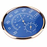 Large Round Fahrenheit Celsius Thermometer Hygrometer Temperature Humidity Monitor Meter Gauge