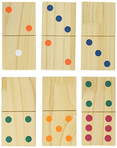 Hey! Play!! Giant Wooden Dominoes Game Set (28 Piece) by Hey! Play!