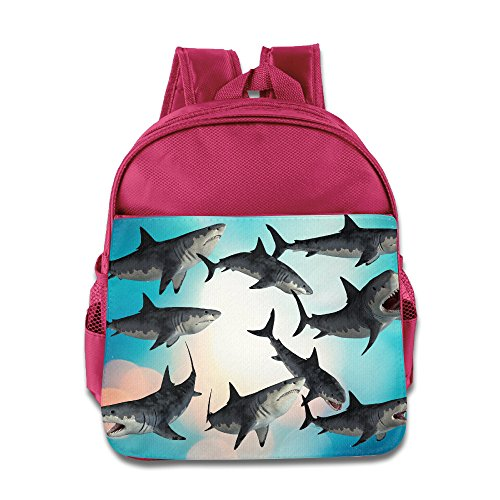 [Logon 8 A Group Of Sharks Cute School Bags Pink For 3-6 Years Olds Kid] (Book Week Group Costumes)