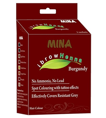 MINA Eyebrow Henna for Eyebrow Color and Tinting kit- Burgundy