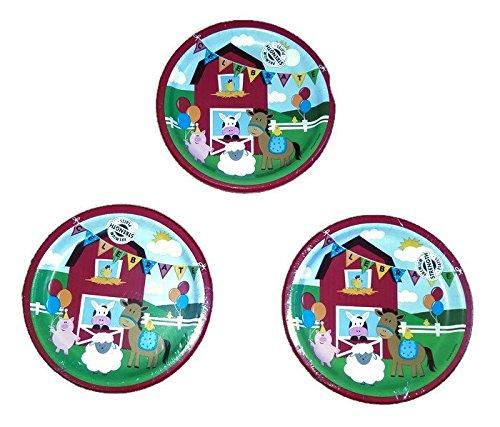 Farmhouse Fun Party Bundle Plates (24) -