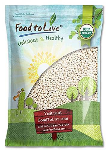 Food to Live Certified Organic Navy Beans (Dry White Small Kidney Pea Beans, Non-GMO, Kosher, Bulk) (5 Pounds)